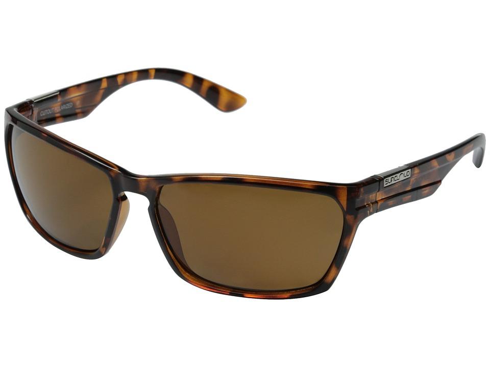 SunCloud Polarized Optics - Cutout Polarized (Tortoise Frame/Brown Polarized Polycarbonate Lenses) Fashion Sunglasses