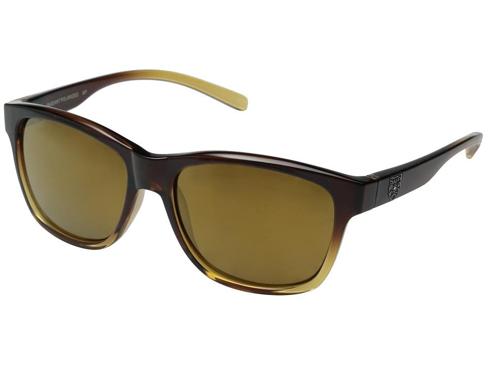 SunCloud Polarized Optics Pageant (Brown Fade Frame/Sienna Mirror Polarized Polycarbonate Lenses) Fashion Sunglasses