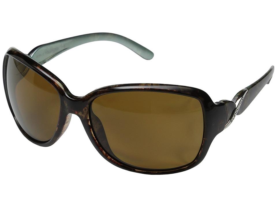 SunCloud Polarized Optics - Weave (Tortoise Backpaint Frame/Brown Polarized Polycarbonate Lenses) Fashion Sunglasses