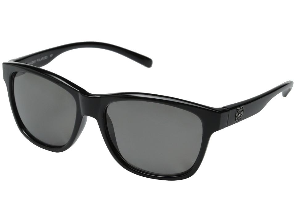 SunCloud Polarized Optics Pageant Black Frame/Gray Polarized Polycarbonate Lenses Fashion Sunglasses