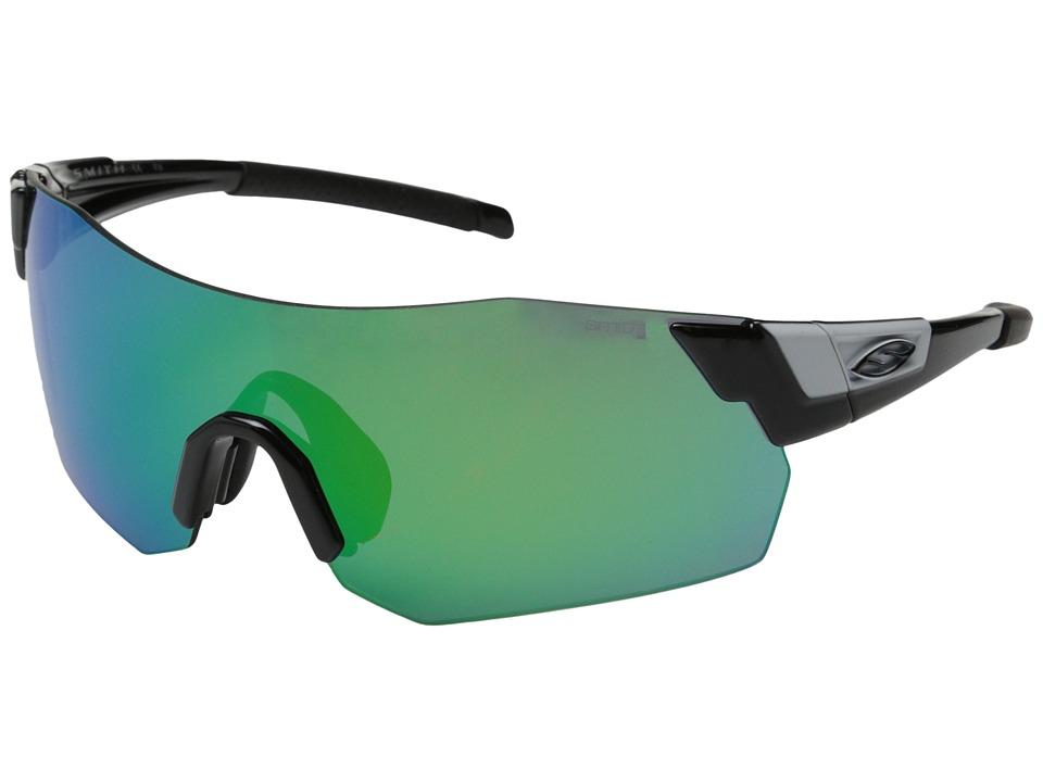 Smith Optics Pivlock Arena Max Black/Green Sol X/Lgnitor/Clear Carbonic TLT Lenses Fashion Sunglasses