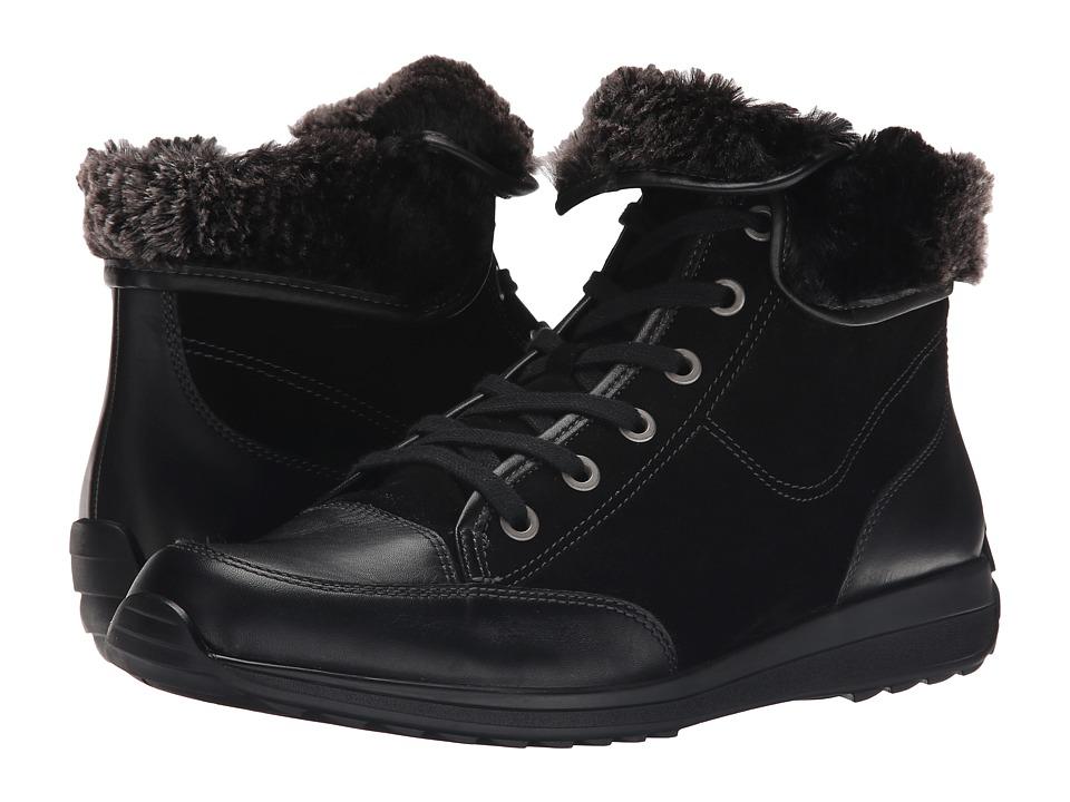 ara - Holbrook (Black/Anthracite Leather/Suede/Fur) Women