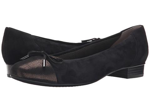 ara Bria - Black Suede/Bronze Glitter Toe