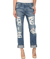 7 For All Mankind - The Relaxed Skinny w/ Shredding in Rigid Vintage Indigo 2
