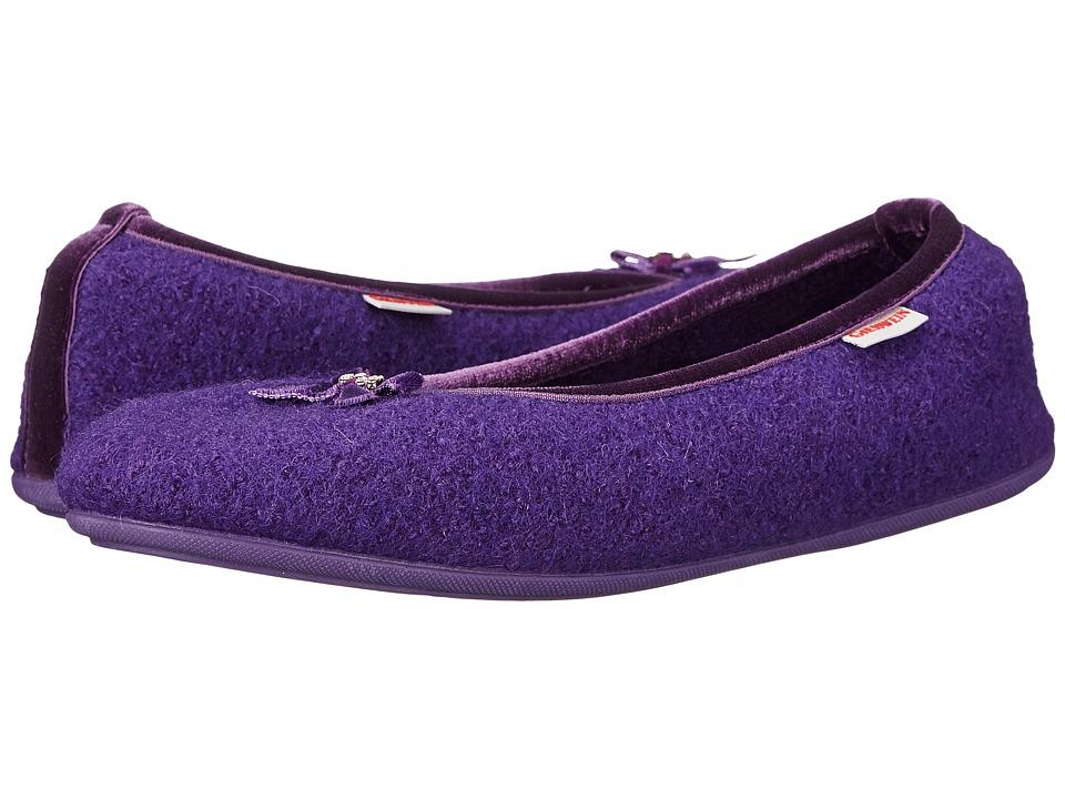 Giesswein Hohenau Purple Womens Slippers