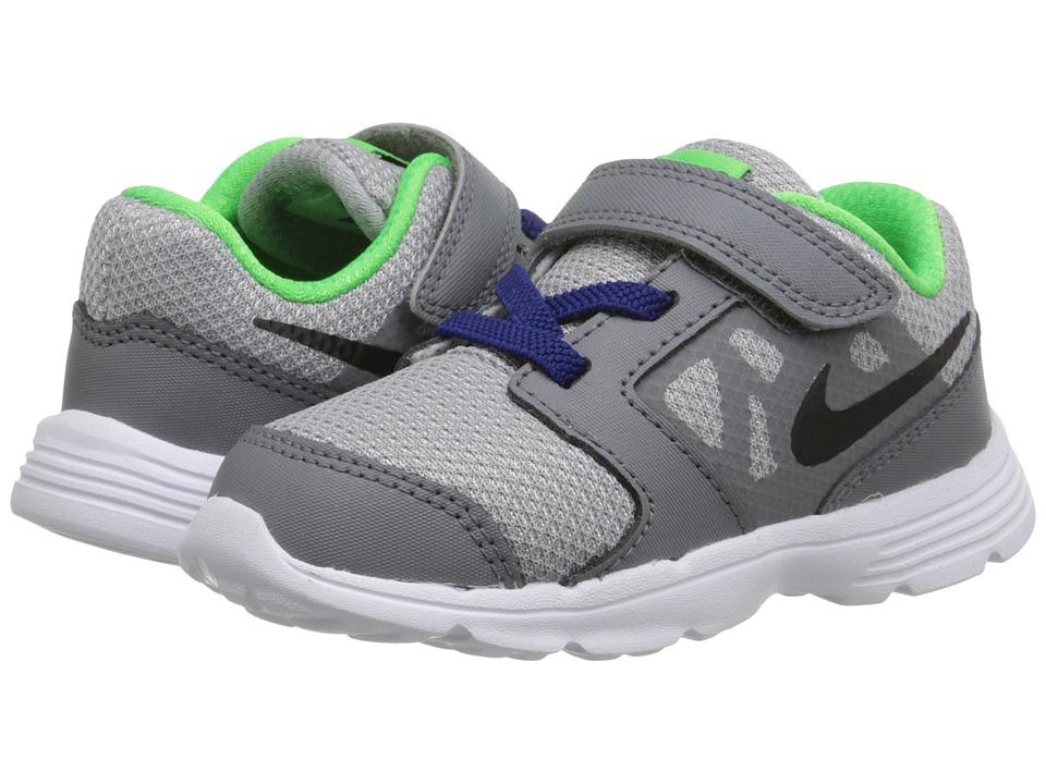 Nike Kids Downshifter 6 Infant/Toddler Wolf Grey/Deep Royal Blue/White/Black Boys Shoes