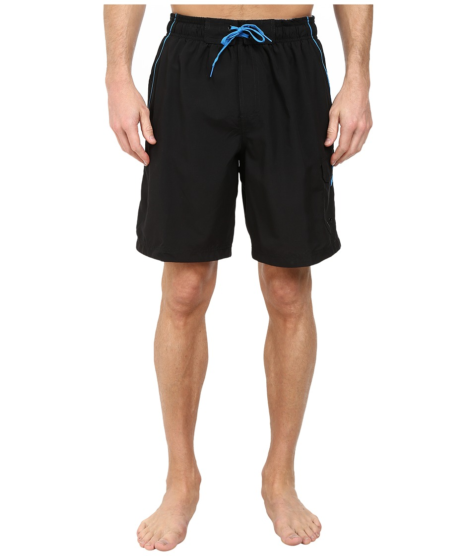 Speedo Marina Volley Swim Trunk Black/Blue Mens Swimwear