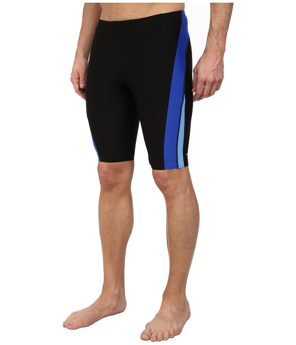 Speedo Launch Splice Jammer (Black/Blue) Men's Swimwear