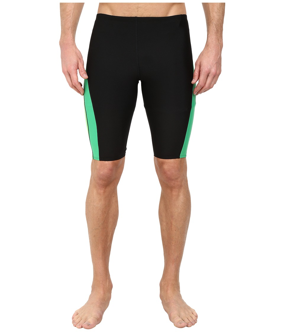 Speedo Launch Splice Jammer Black/Green Mens Swimwear