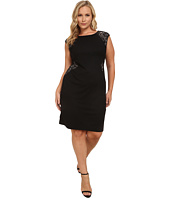 London Times - Plus Size Lace Cutout Sheath Dress