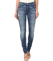 7 For All Mankind - The Skinny w/ Squiggle in Red Cast Heritage Blue