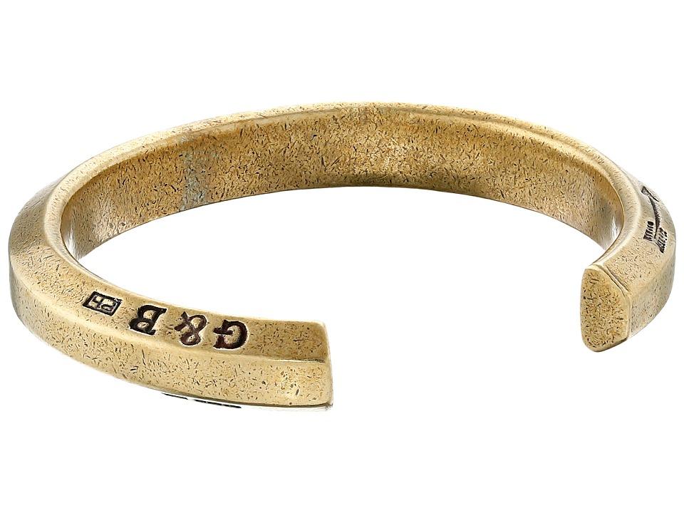 Giles amp Brother Hex Cuff Bracelet Brass Oxide Bracelet