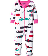 Hatley Kids - Scarf Whales Footed Coverall (Infant)