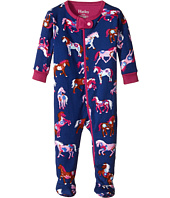 Hatley Kids - Horses & Flowers Footed Coverall (Infant)