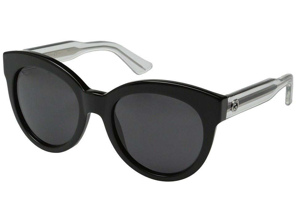 Gucci GG 3749/S Black Crystal/Gray Fashion Sunglasses