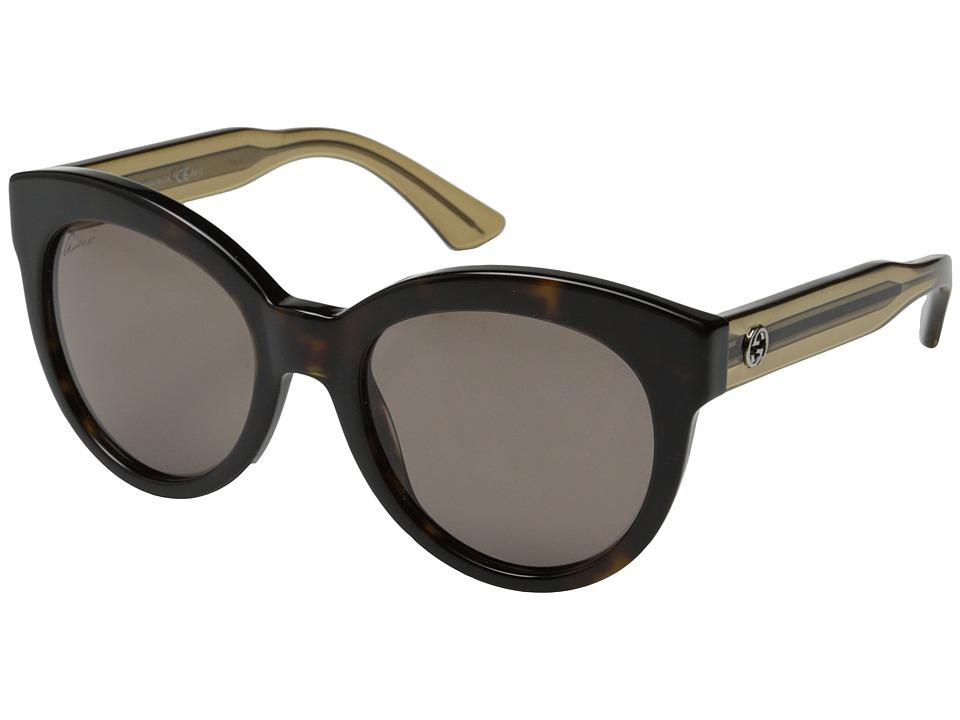 Gucci GG 3749/S Havana Beige/Red Brown Fashion Sunglasses