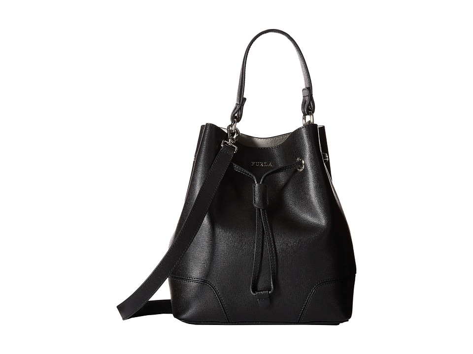 Furla - Stacy Small Drawstring (Onyx 1) Drawstring Handbags