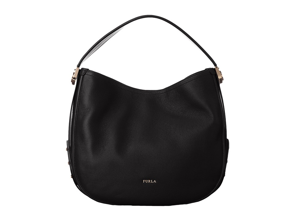 Furla - Luna Medium Hobo (Onyx) Hobo Handbags