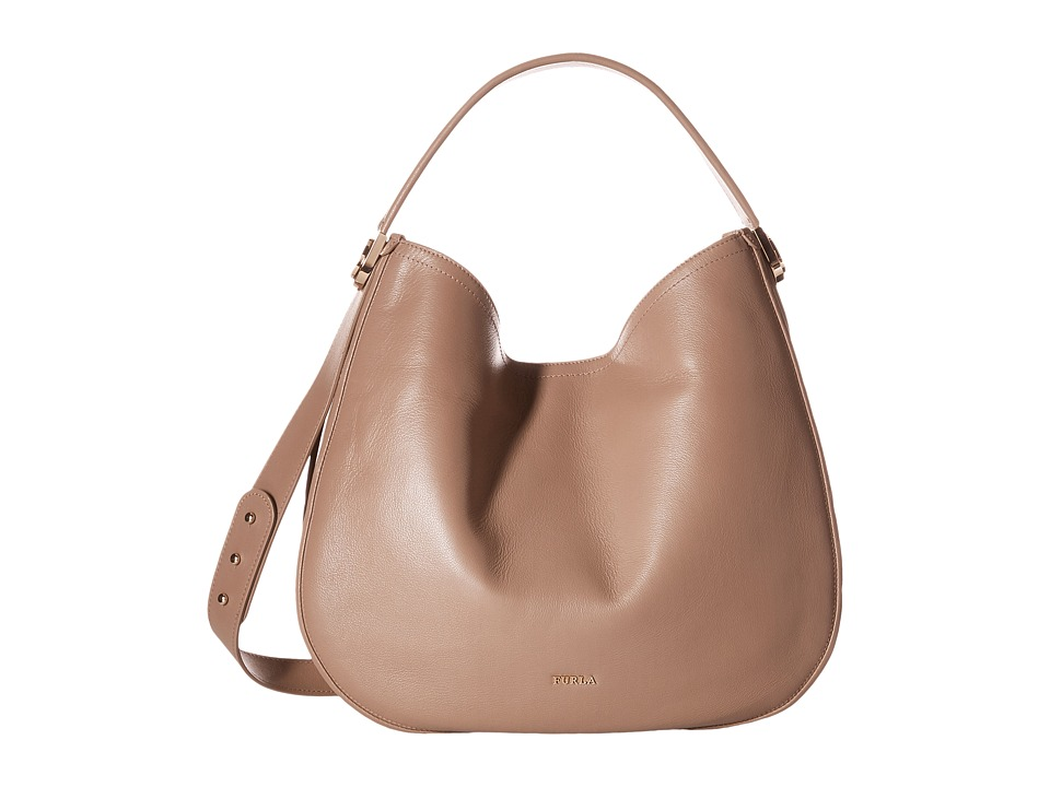 Furla - Luna Large Hobo (Color Daino) Hobo Handbags