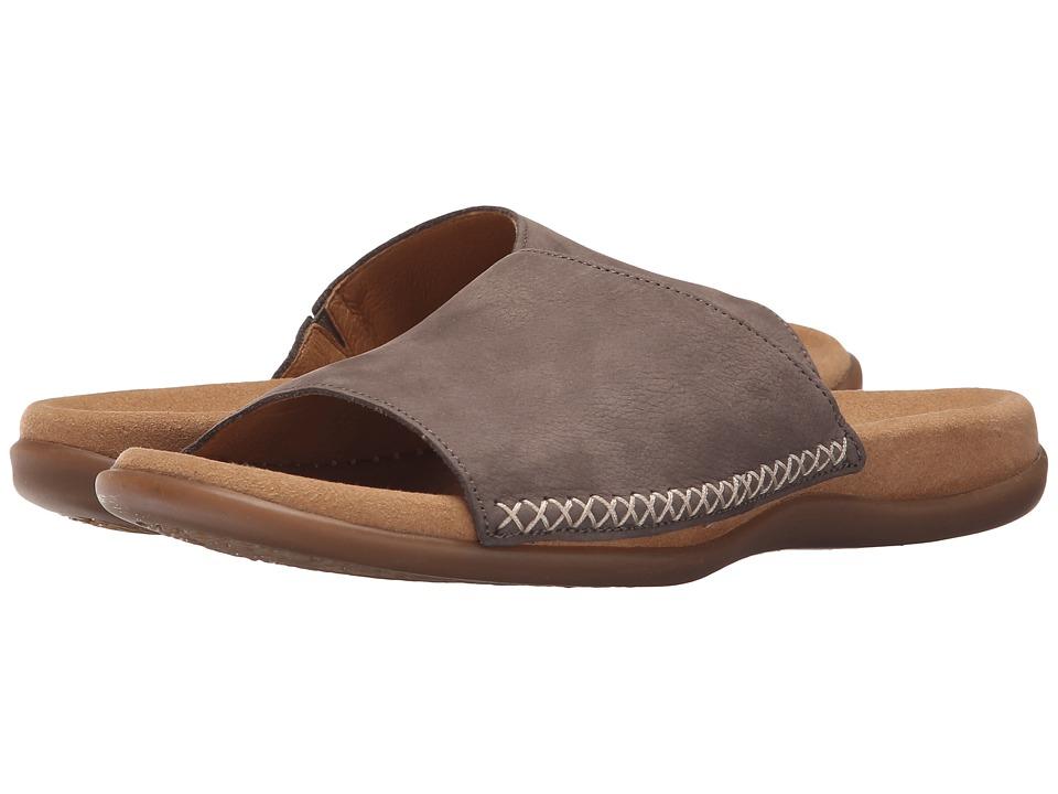 Gabor Gabor 03.705 Dark Taupe Nubuk Lavato Womens Sandals