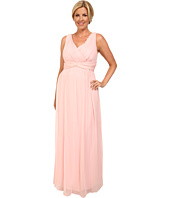Donna Morgan - Plus Size Julie Long Bra Friendly Chiffon Dress