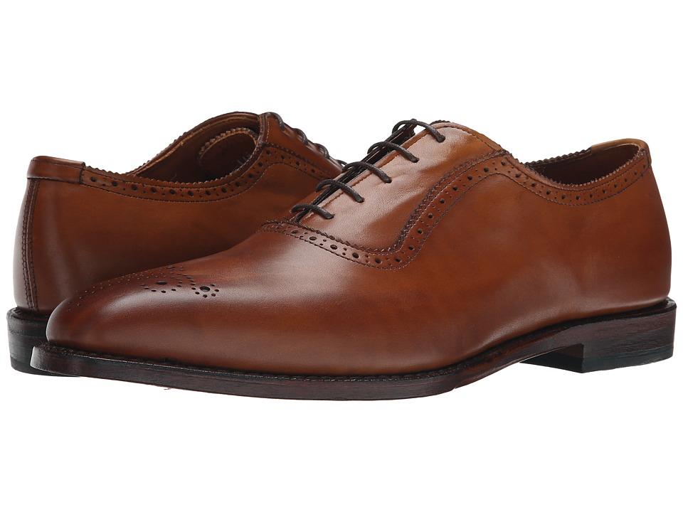 1940s Mens Shoes | Gangster, Spectator, Black and White Shoes Allen-Edmonds - Cornwallis Walnut Calf Mens Plain Toe Shoes $425.00 AT vintagedancer.com