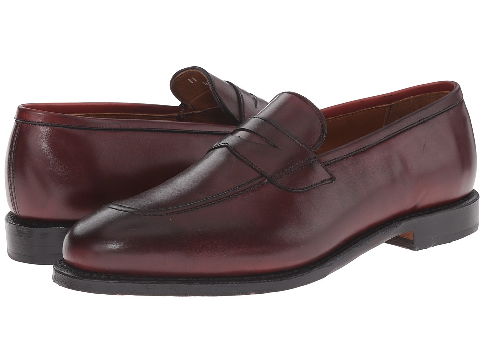 Allen-Edmonds - Lake Forest (Oxblood) Men's Lace Up Cap Toe Shoes