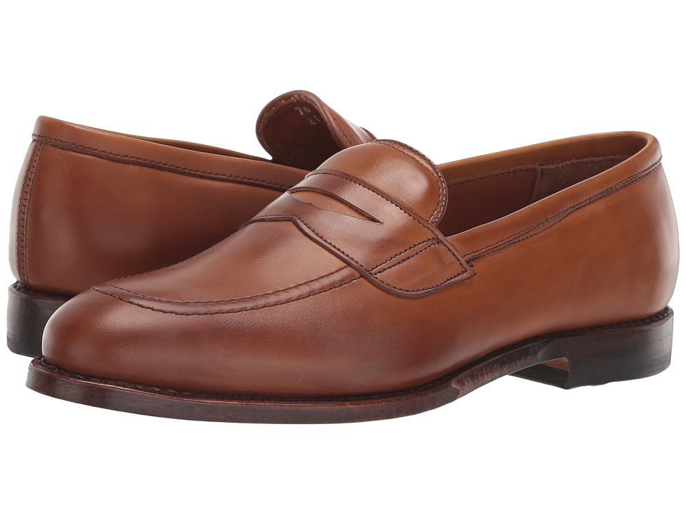 1930s Style Mens Shoes Allen-Edmonds - Lake Forest Walnut Calf Mens Lace Up Cap Toe Shoes $425.00 AT vintagedancer.com