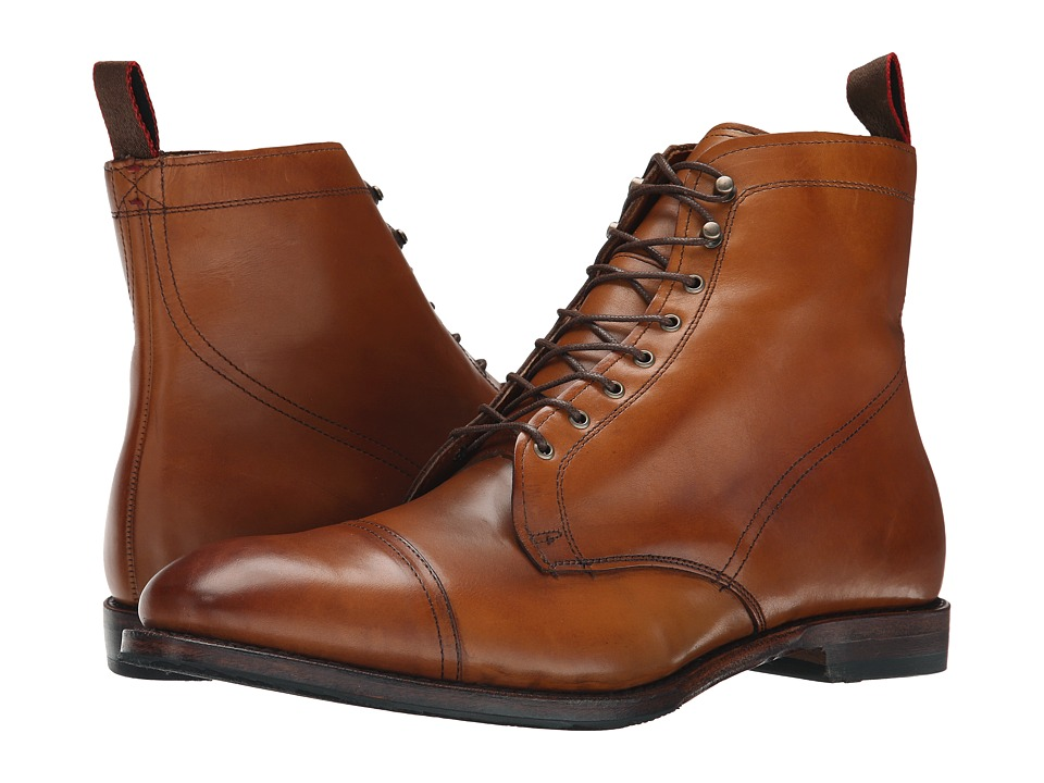 Mens Vintage Style Shoes| Retro Classic Shoes Allen-Edmonds - First Avenue Walnut Calf Mens Dress Boots $378.25 AT vintagedancer.com