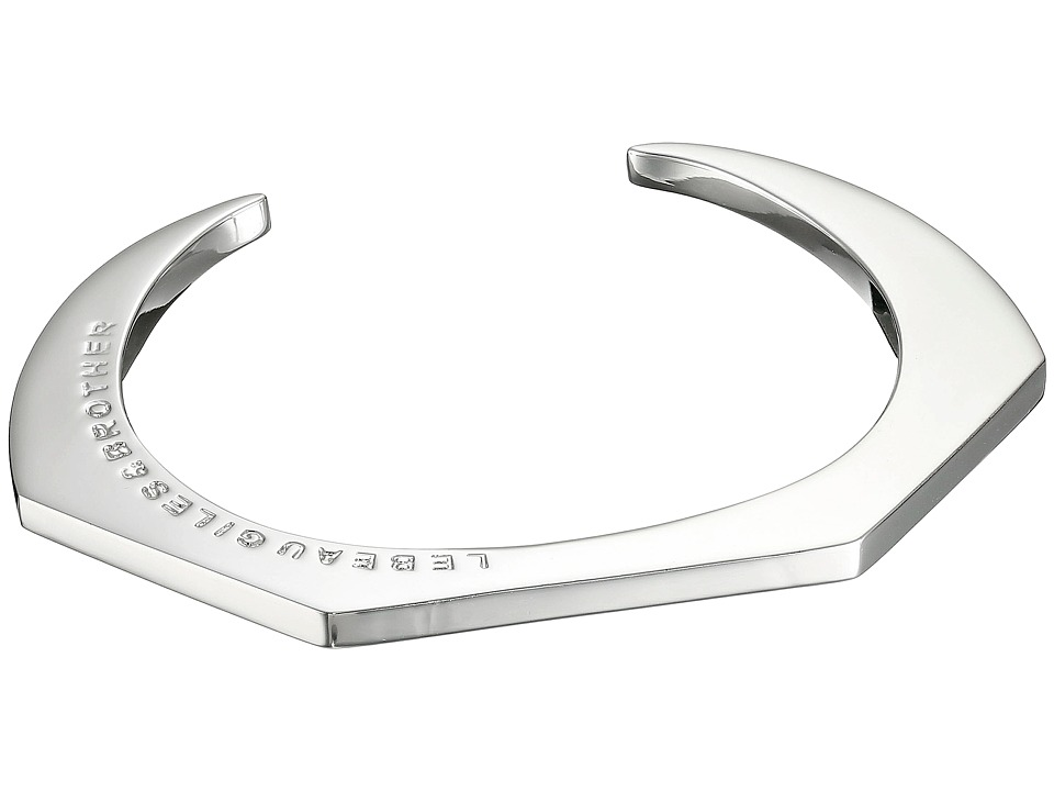 Giles amp Brother Skinny Hex Cuff Rhodium Plated Brass Bracelet