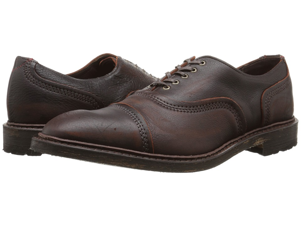 Allen Edmonds Overlord Brown Mens Lace Up Cap Toe Shoes