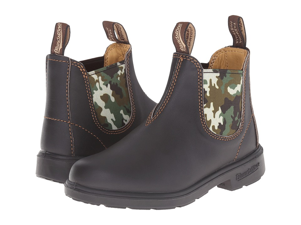 Blundstone Kids 537 (Toddler/Little Kid/Big Kid) (Brown/Camo) Boys Shoes