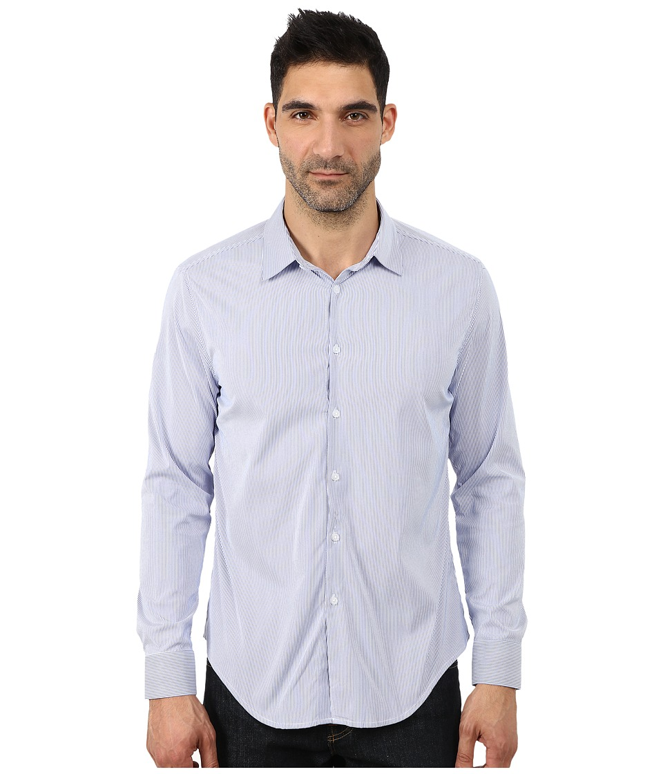 Ministry of Supply Archive Dress Shirt Blue Striped Mens T Shirt