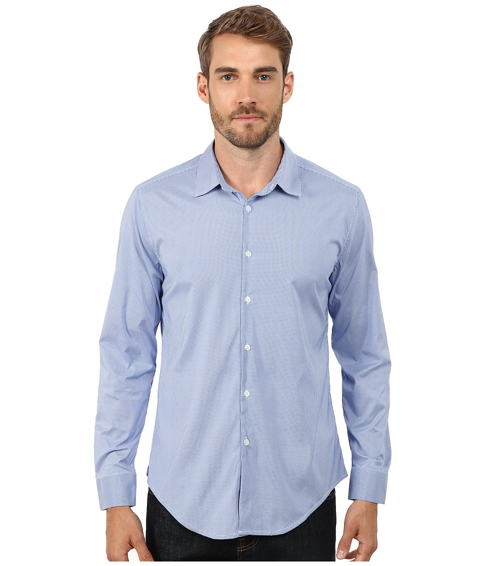 Ministry of Supply Archive Dress Shirt Blue Mini Gingham Mens T Shirt