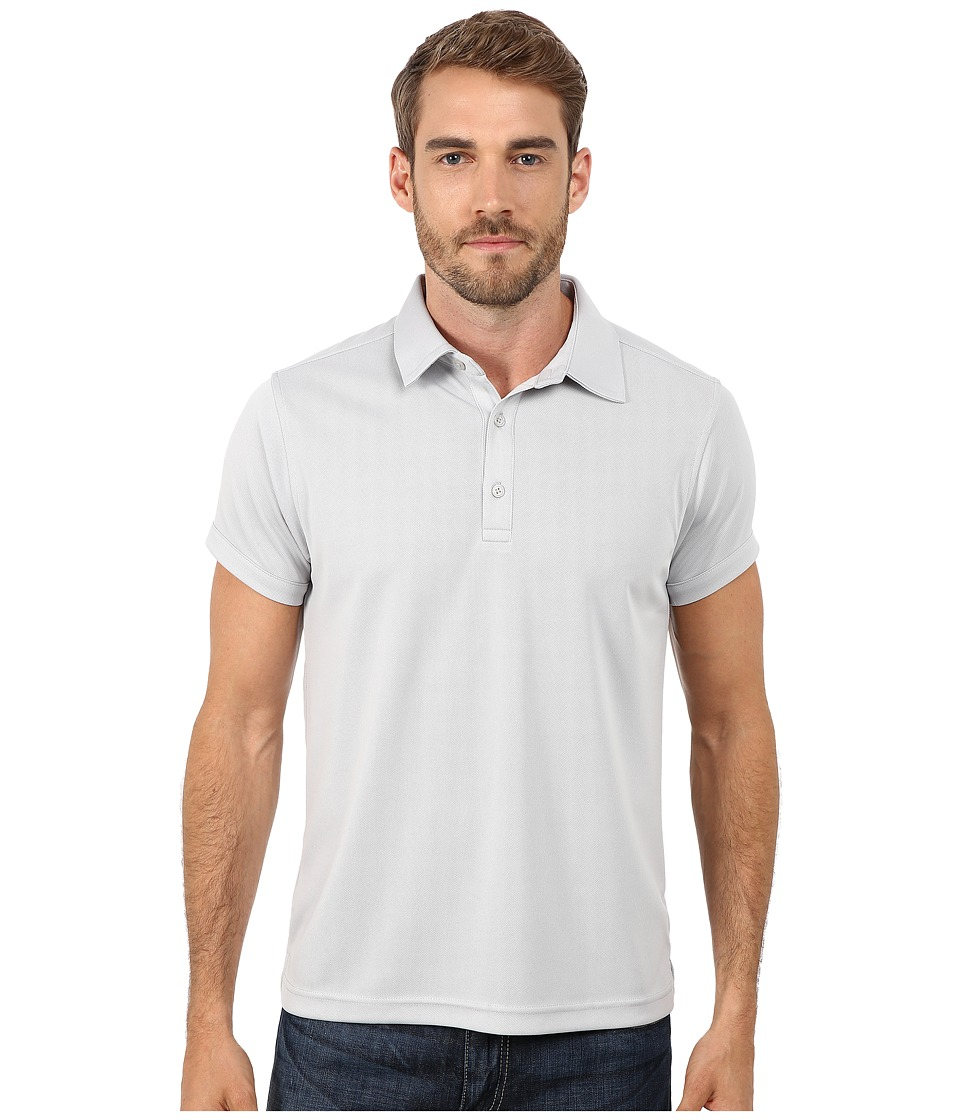 Ministry of Supply Apollo Polo Light Grey Mens Short Sleeve Pullover