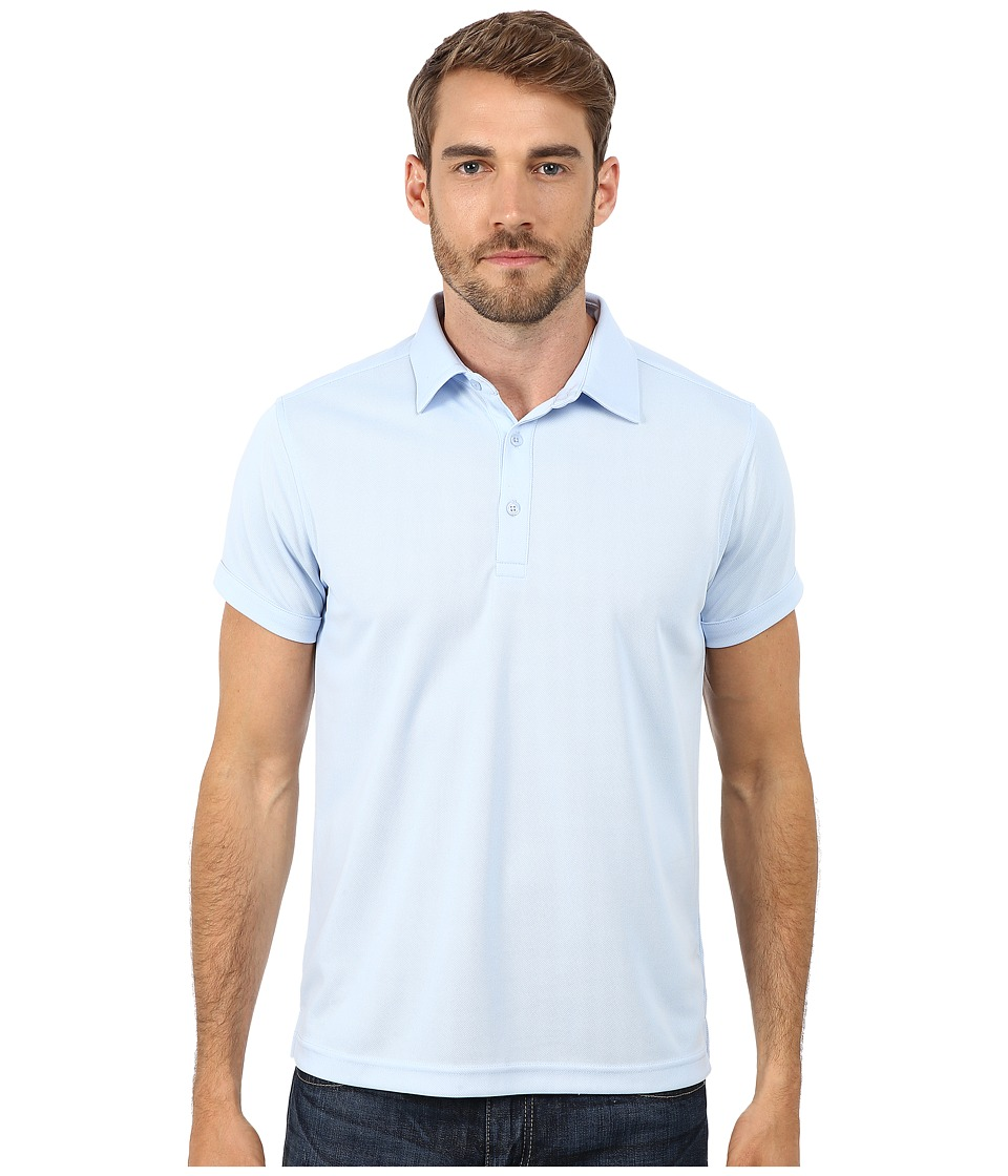 Ministry of Supply Apollo Polo Light Blue Mens Short Sleeve Pullover