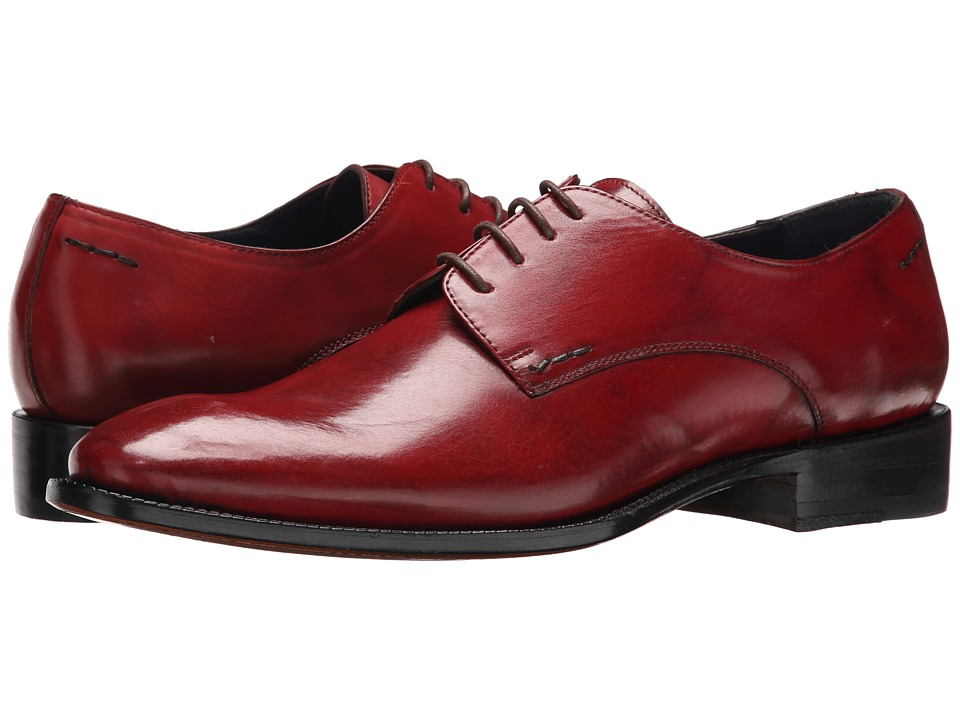 Messico Simon Welt Red Ferrari Leather Mens Flat Shoes