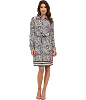 NYDJ - Bernadette Paisley Border Shirt Dress
