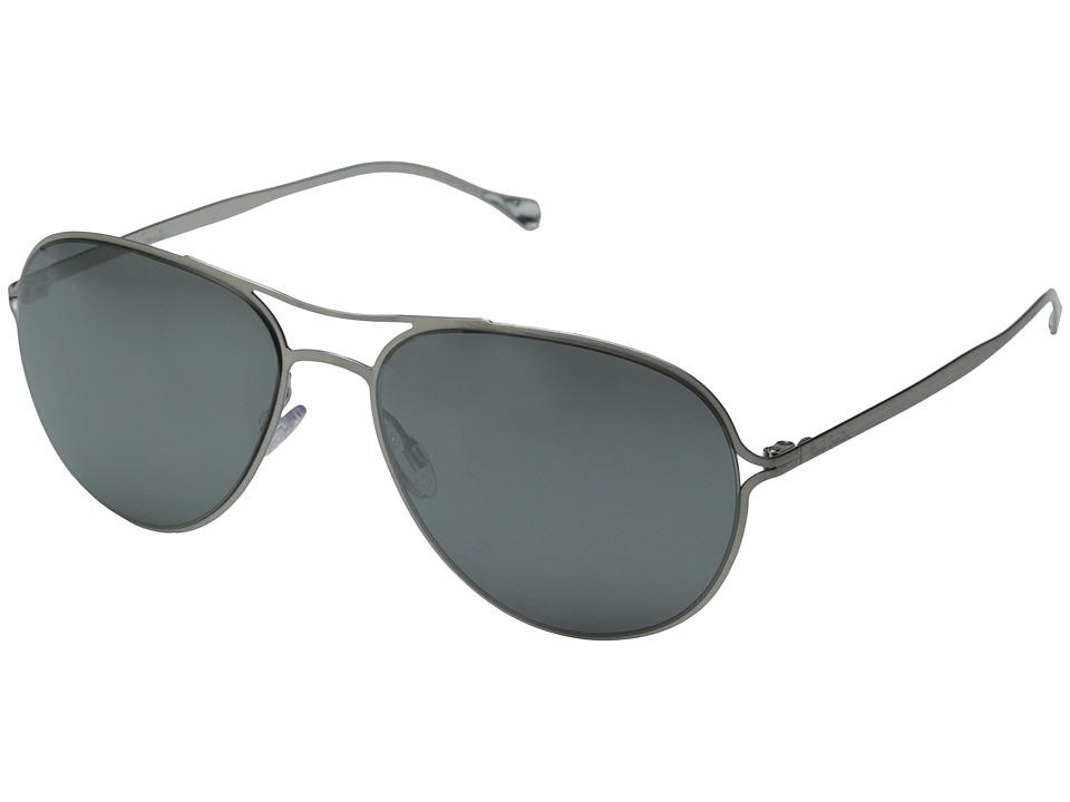 Paul Smith Surrey Brushed Silver/Black Satin Mirror Fashion Sunglasses