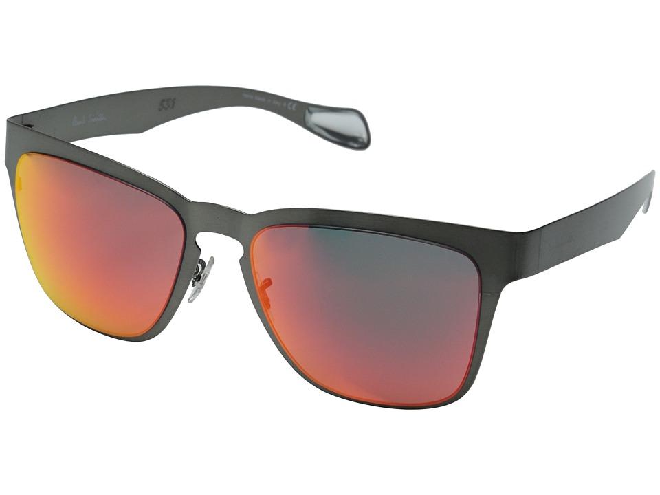 Paul Smith Barson Black Chrome/Inferno Mirror Fashion Sunglasses