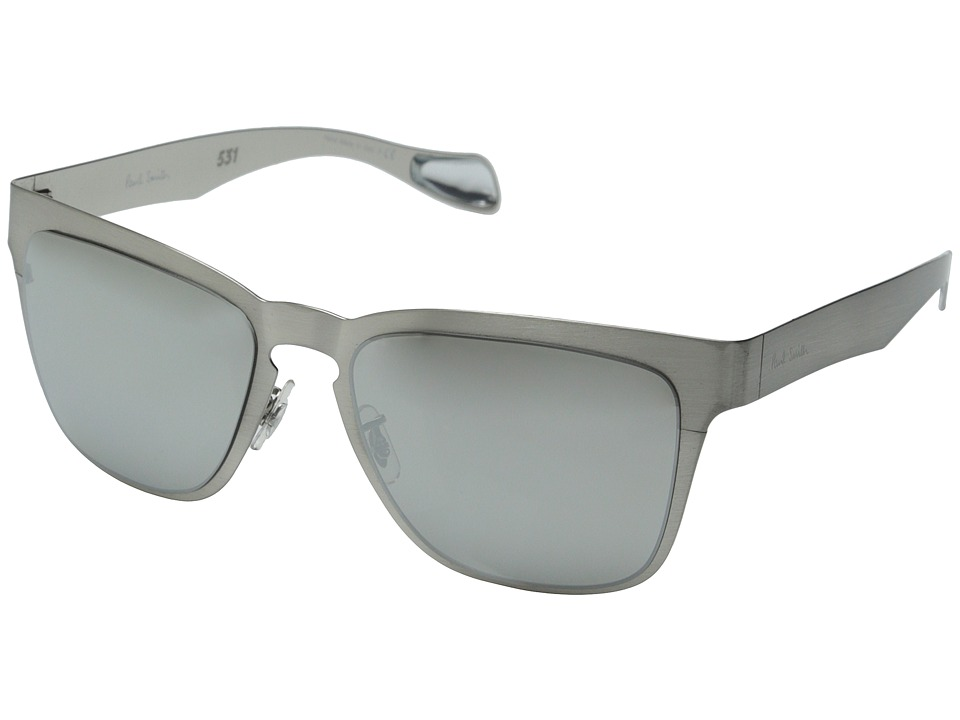 Paul Smith Barson Brushed Silver/Silver Mirror Fashion Sunglasses