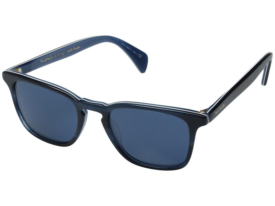 Paul Smith Shawbury Navy Horn/Blue/Blue Fashion Sunglasses