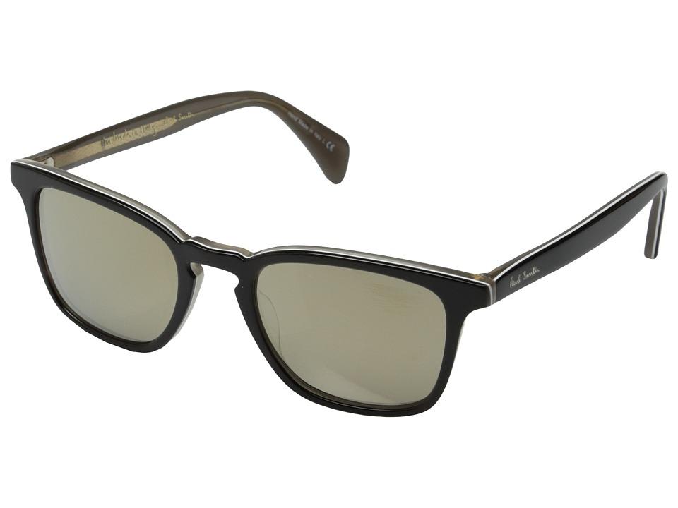 Paul Smith Shawbury Black Horn/Grey/Taupe Flash Mirror Fashion Sunglasses