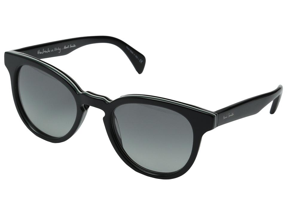 Paul Smith Serle Deluxe Onyx Stripe/Grey Gradient Fashion Sunglasses
