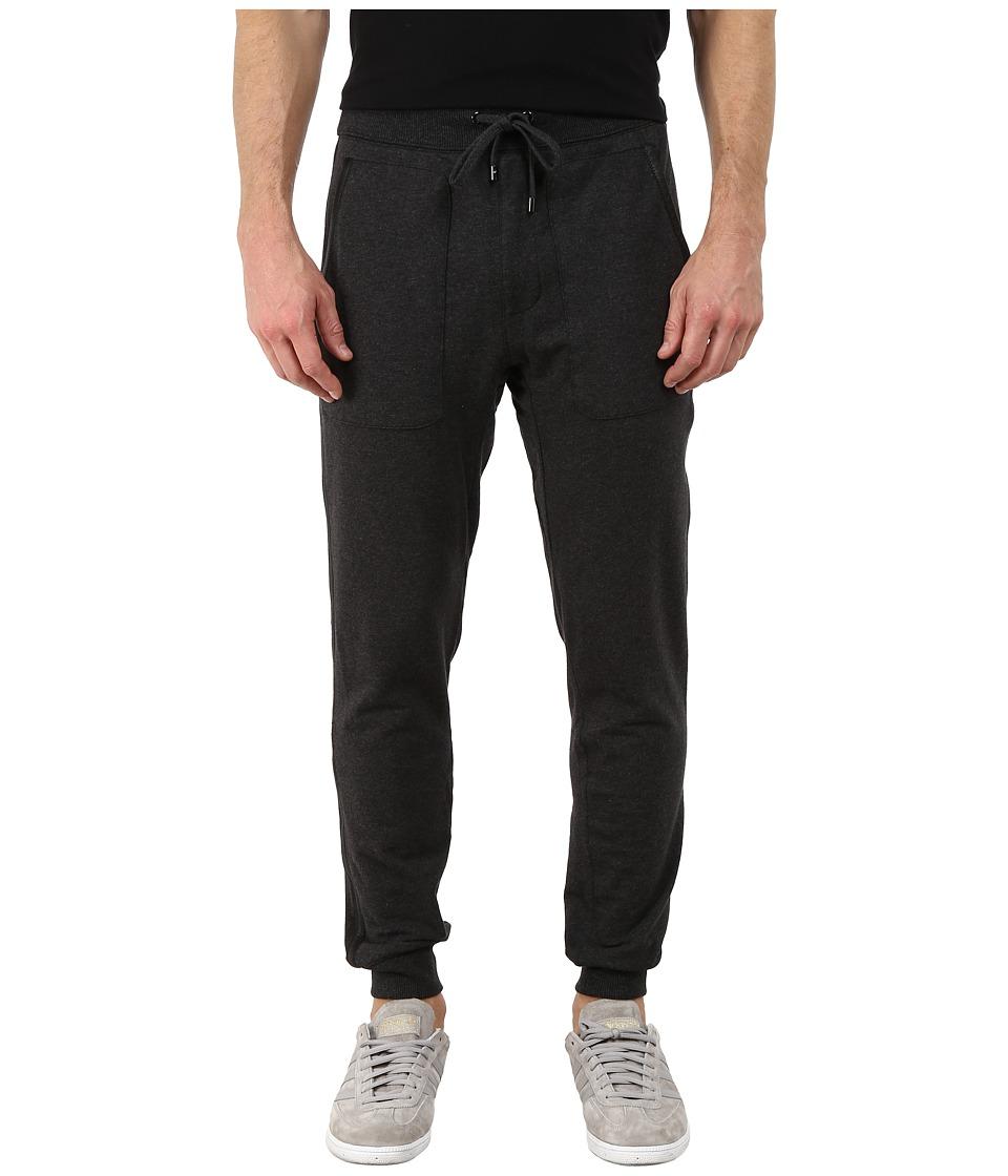 Michael Kors - Leather Bound Pants (Charcoal Melange) Men's Casual Pants