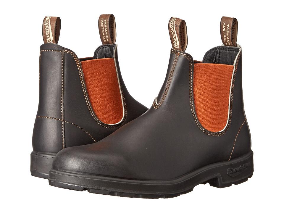 Blundstone BL1435 Stout Brown/Burnt Orange Work Boots