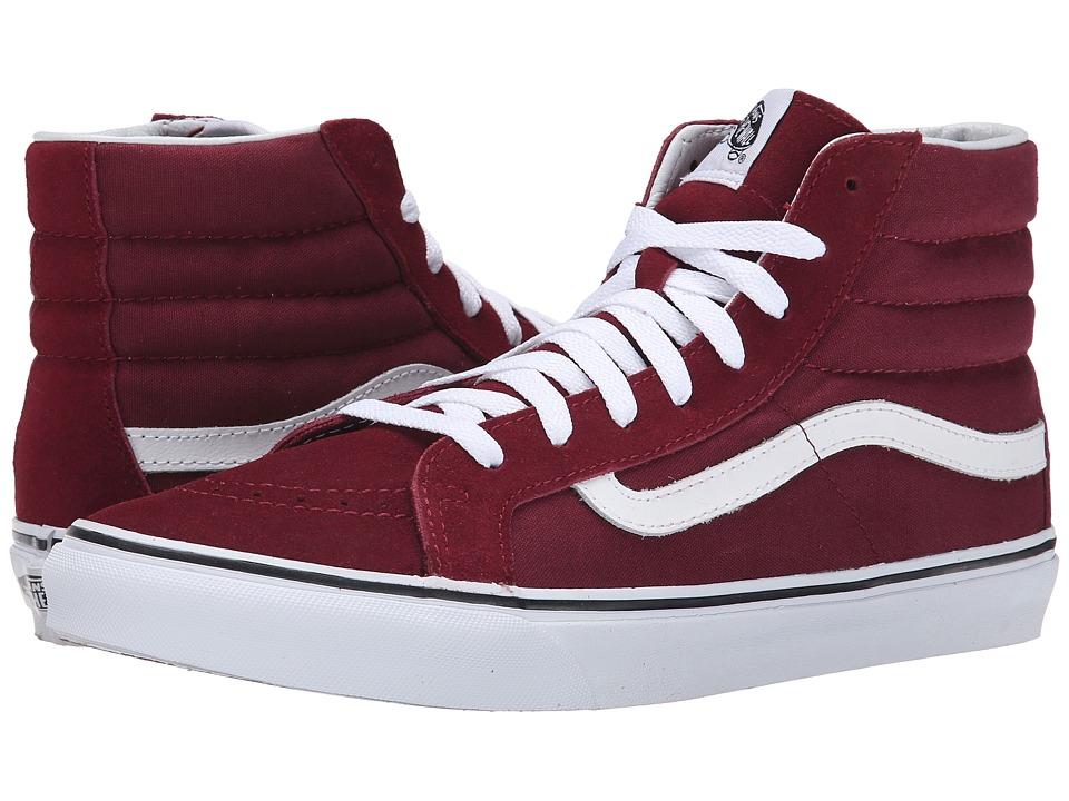 Vans - SK8-Hi Slim (Windor Wine) Skate Shoes