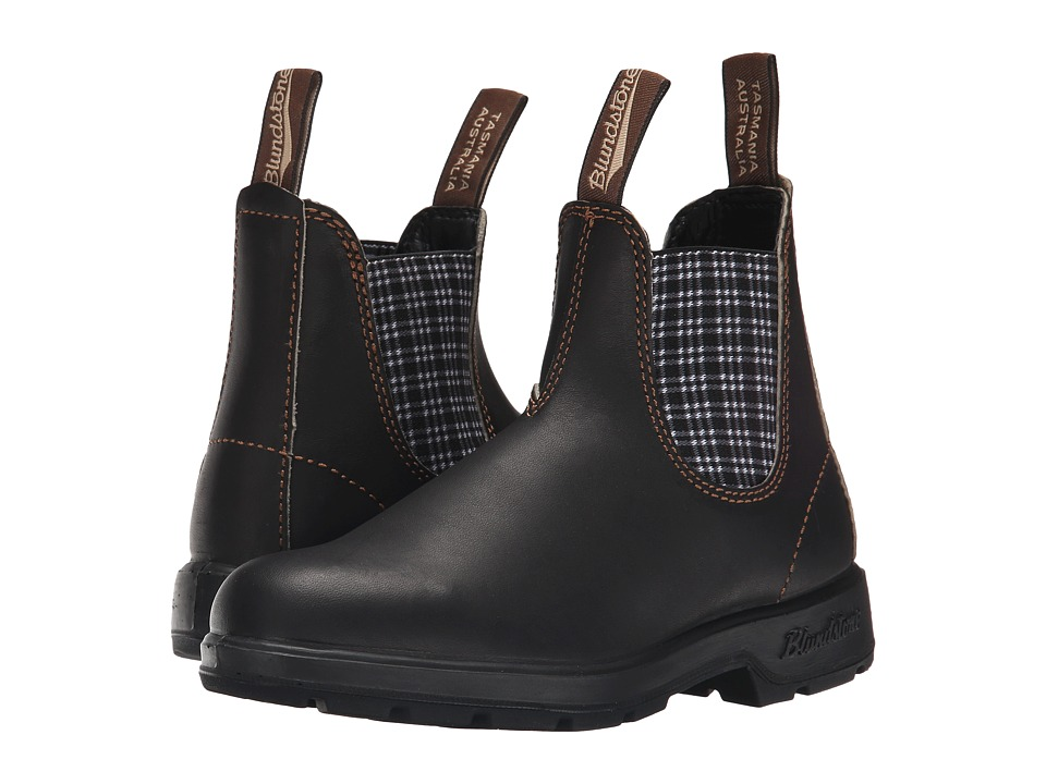 Blundstone BL1463 (Stout Brown/Navy Tartan) Work Boots