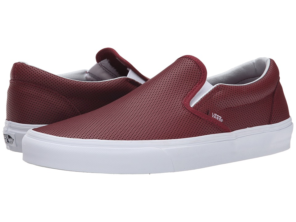 Vans Classic Slip On Perf Leather Port Skate Shoes