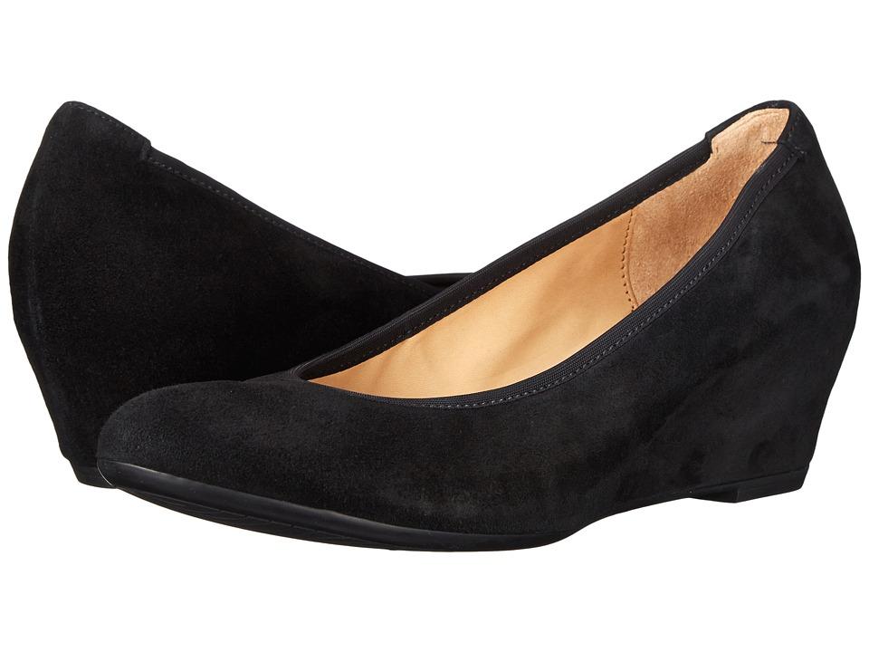 Gabor Gabor 35.630 Black Samtchevreau Womens 1 2 inch heel Shoes